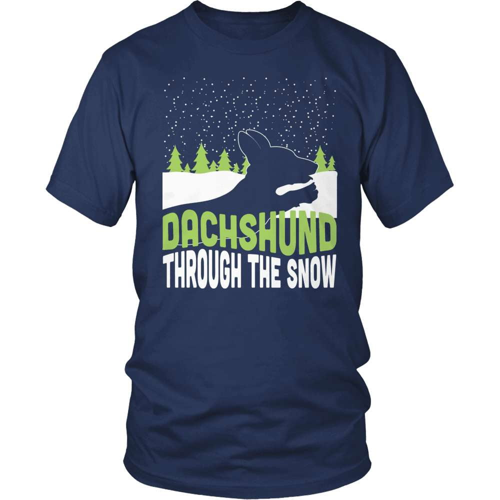Dachshund T-Shirt Design - Dachshund Through The Snow