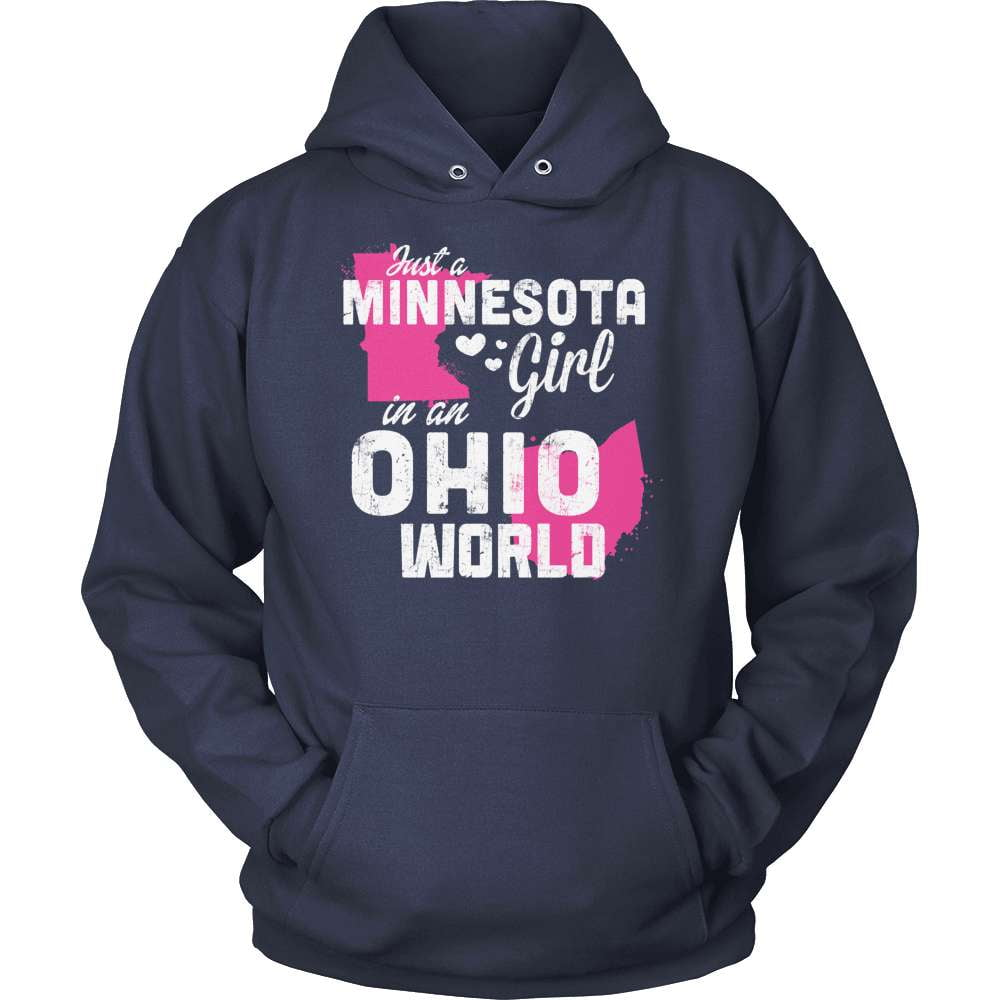 Minnesota T-Shirt Design - Minnesota Girl Ohio World