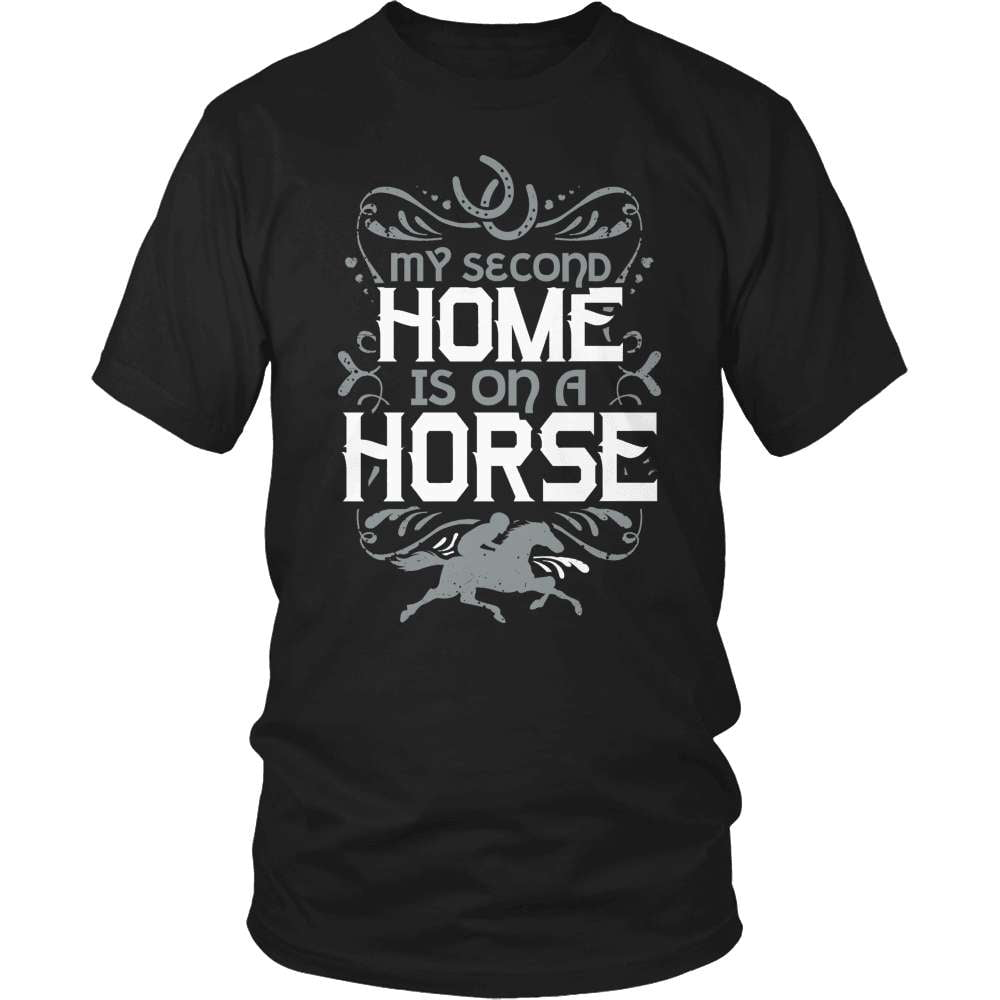 Horse T-Shirt Design - My Second Home - snazzyshirtz.com