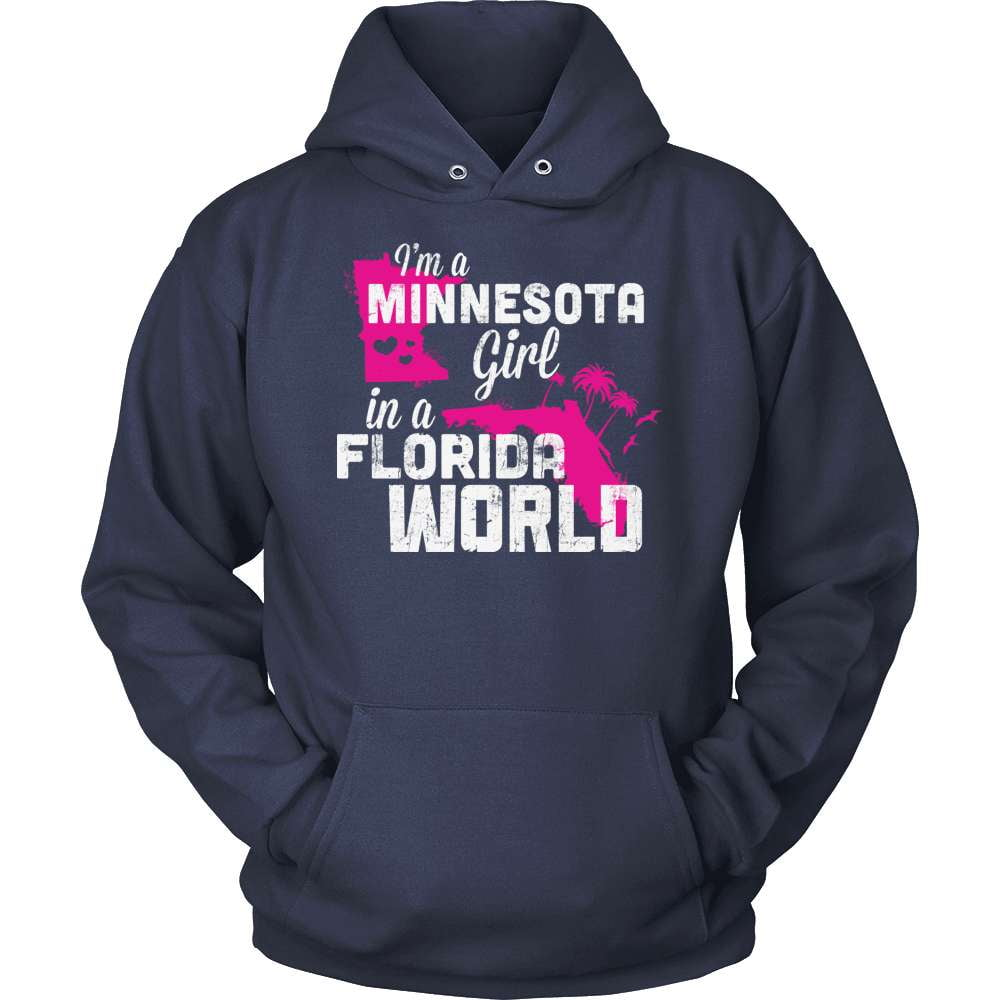 Minnesota T-Shirt Design - Minnesota Girl Florida World
