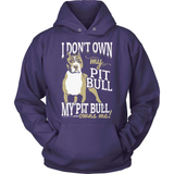 Pit Bull T-Shirt Design - Owns Me!