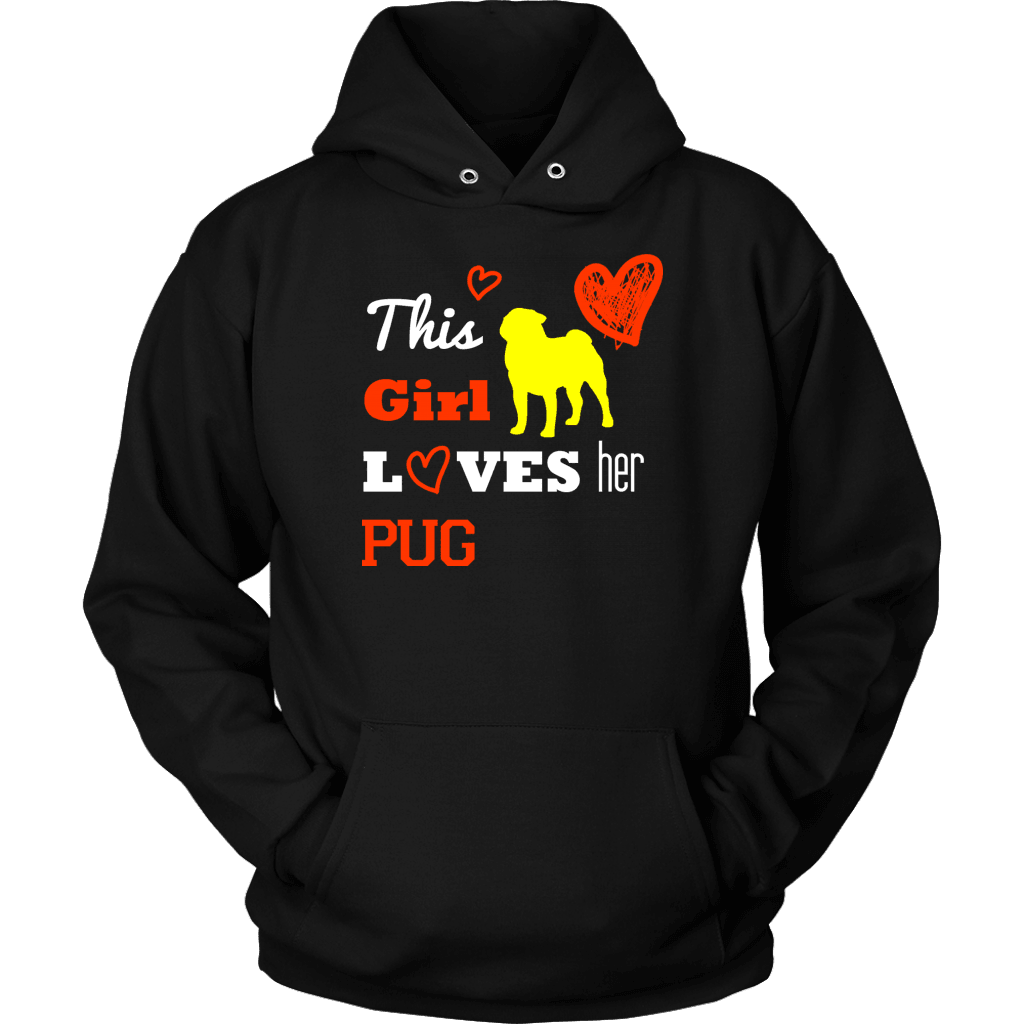Pug T-Shirt Design - Pug Loving Girl