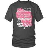 Wisconsin T-Shirt Design - Girl Out Of Wisconsin