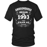 Birthday T-Shirt Design - Awesomeness - 1993