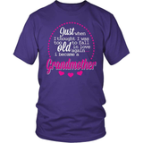 Grandparent T-Shirt Design - Too Old To Fall