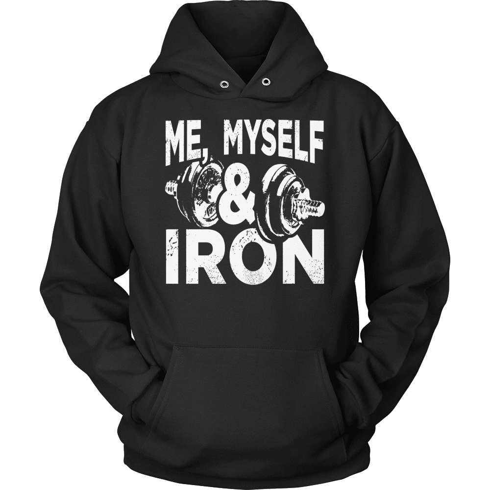 Fitness T-Shirt Design - Me Myself & Iron