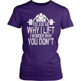 Fitness T-Shirt Design - Why Don't You