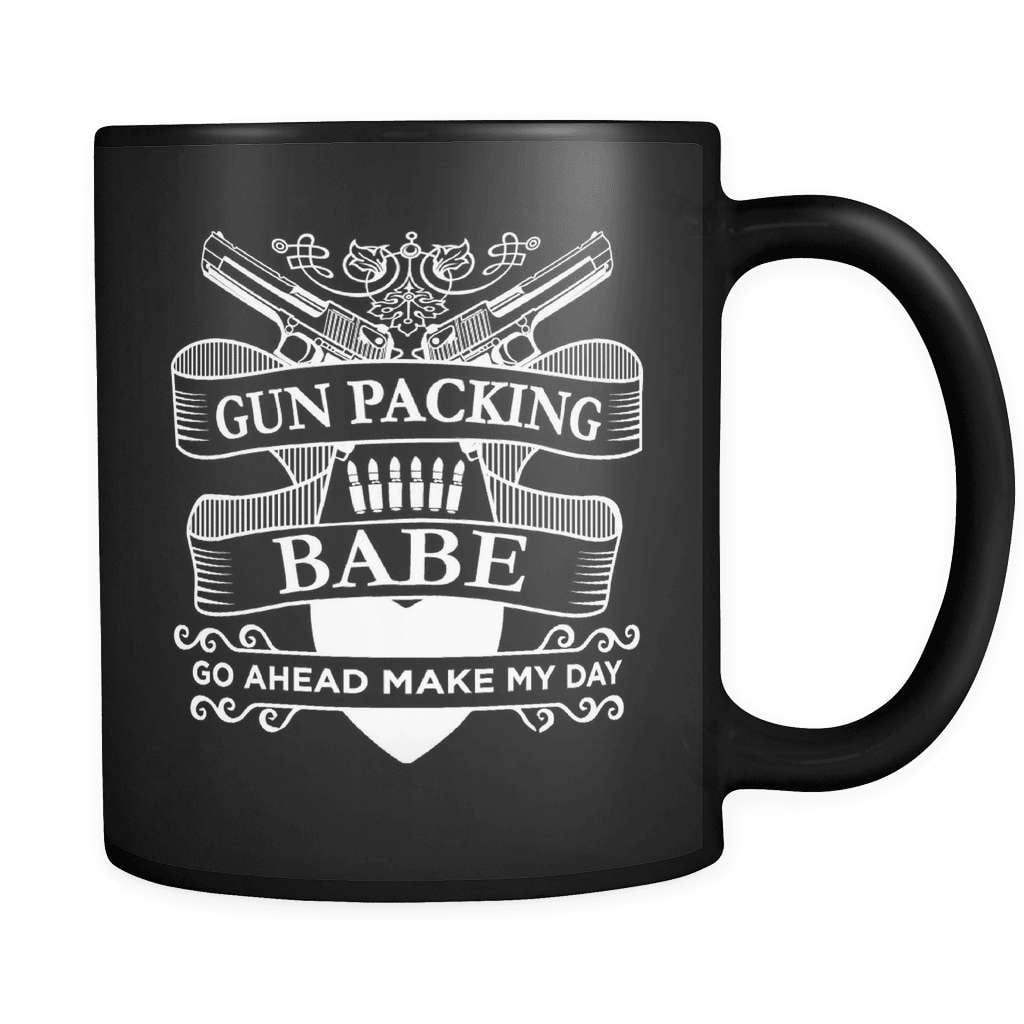 Gun Packing Babe - Luxury Mug