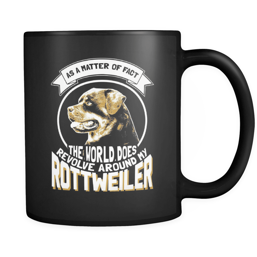 The World Revolves Around My Rotty - Luxury Rottweiler Mug