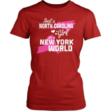 North Carolina T-Shirt Design - North Carolina Girl New York World