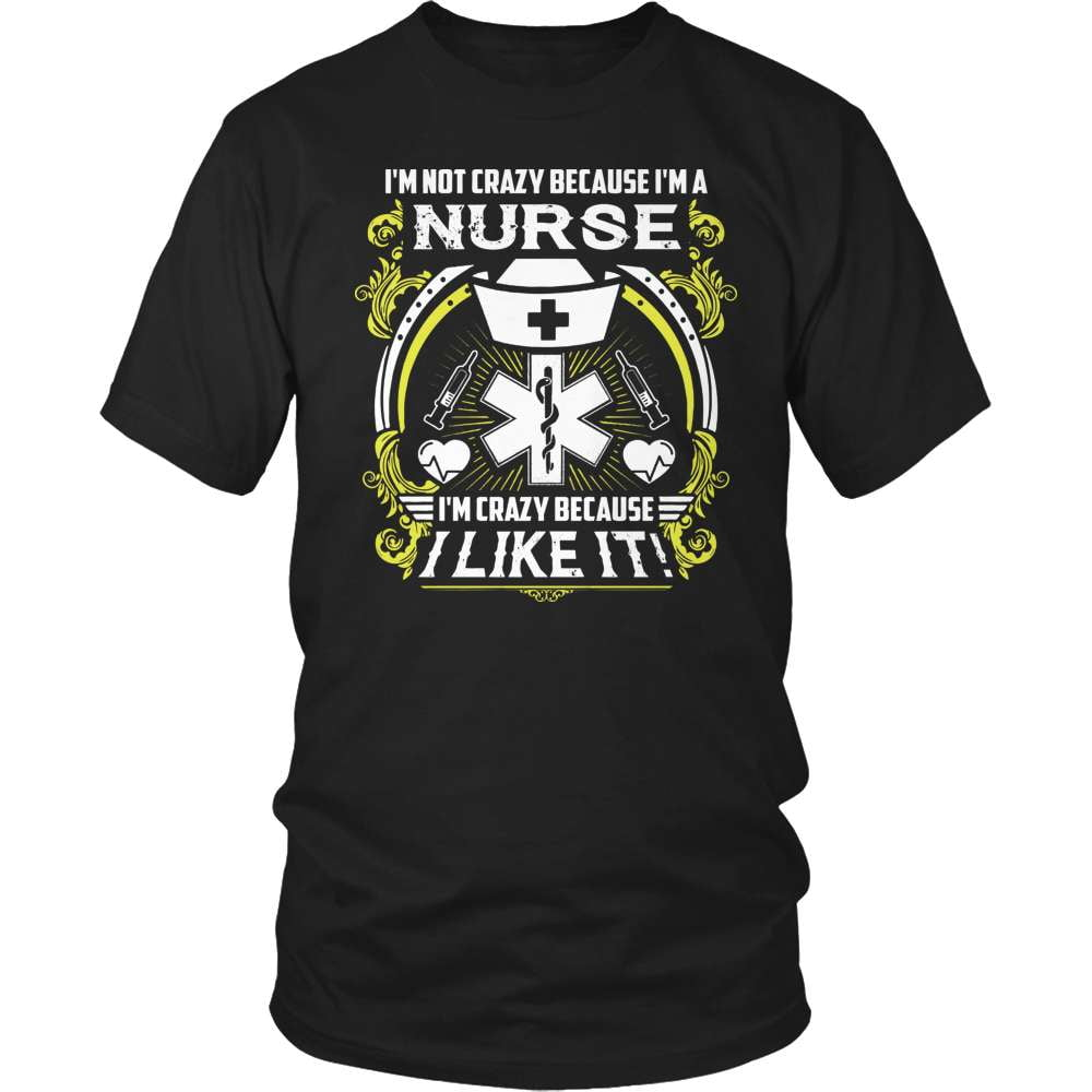 Nurse T-Shirt Design - Crazy Nurse
