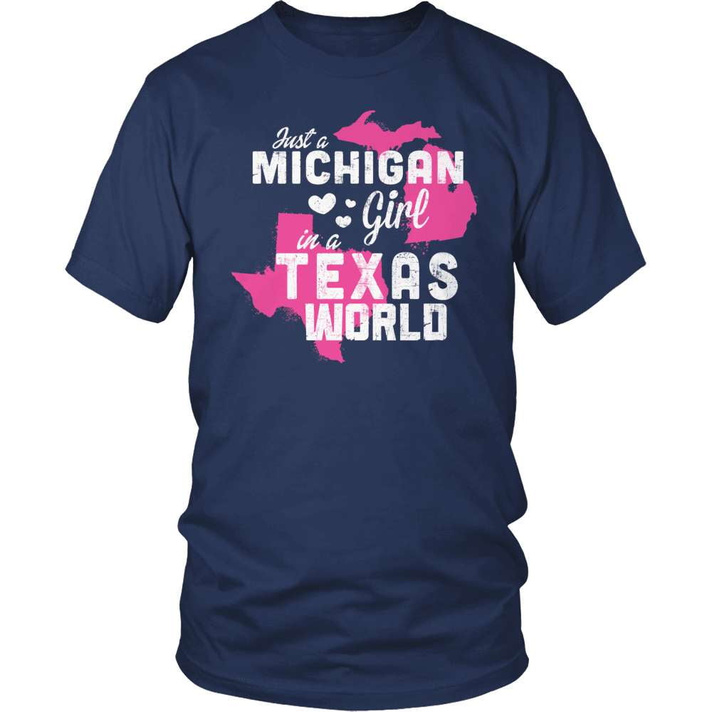Michigan T-Shirt Design - Michigan Girl Texas World