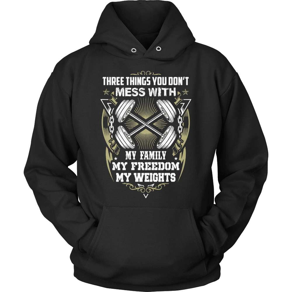 Fitness T-Shirt Design - Don't Mess With My Weights!