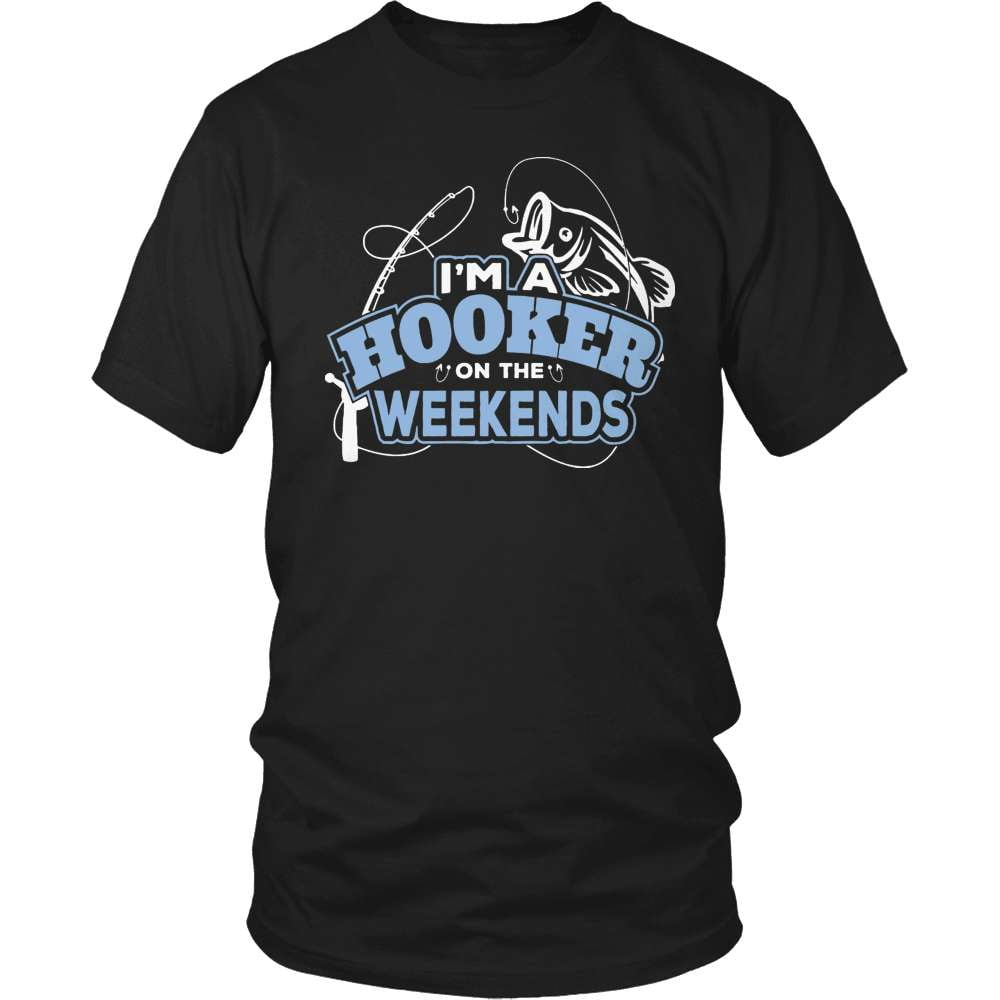 Fishing T-Shirt Design - Hooker At The Weekends - snazzyshirtz.com