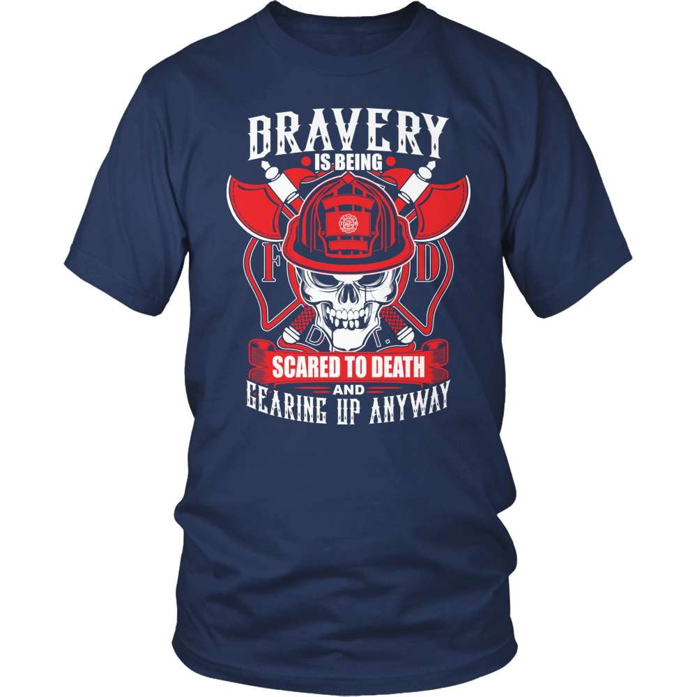 Firefighter T-Shirt Design - Gearing Up
