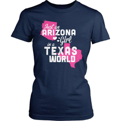 Arizona T-Shirt Design - Arizona Girl Texas World - snazzyshirtz.com