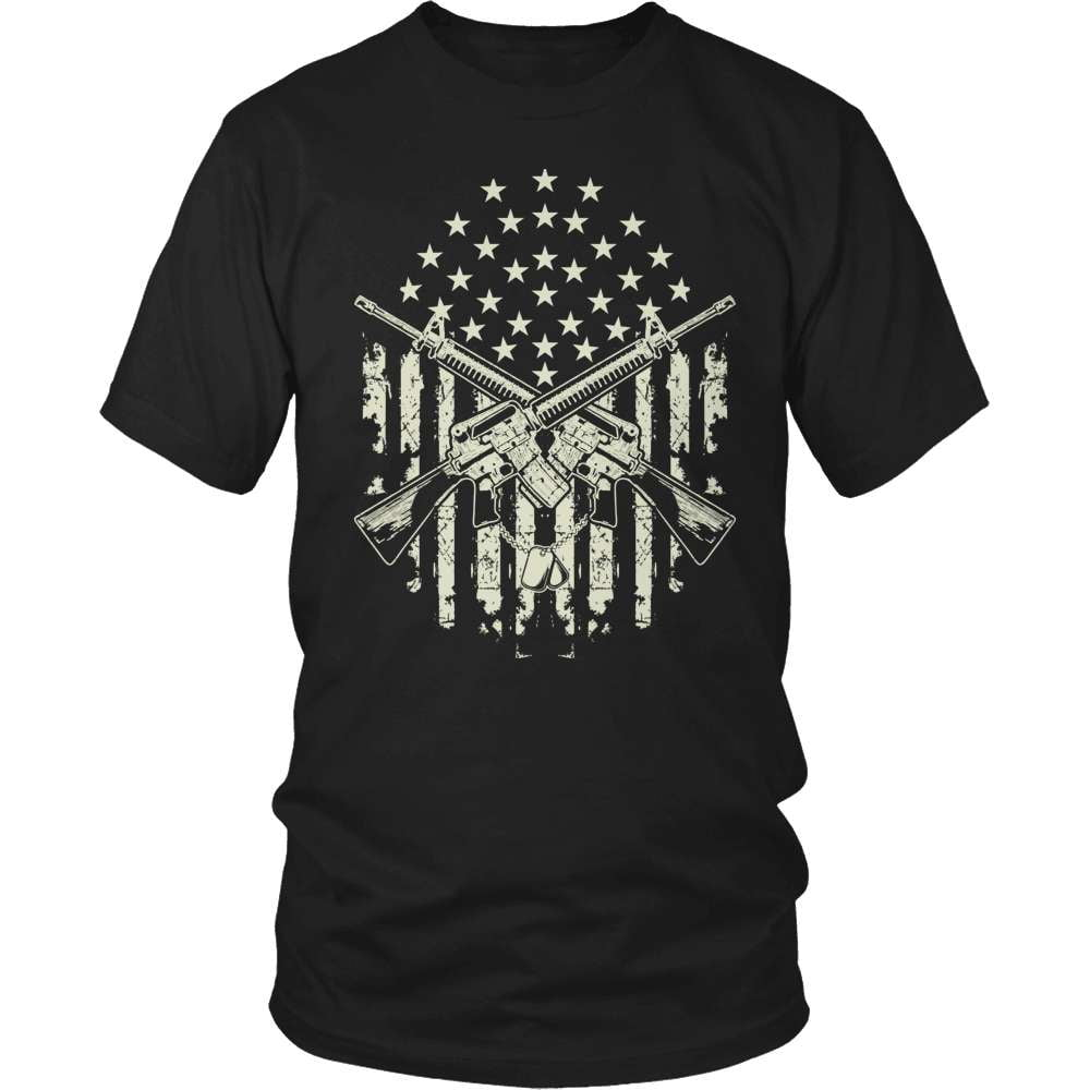 Veteran T-Shirt Design - Crossed Guns - snazzyshirtz.com