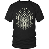 Veteran T-Shirt Design - Crossed Guns