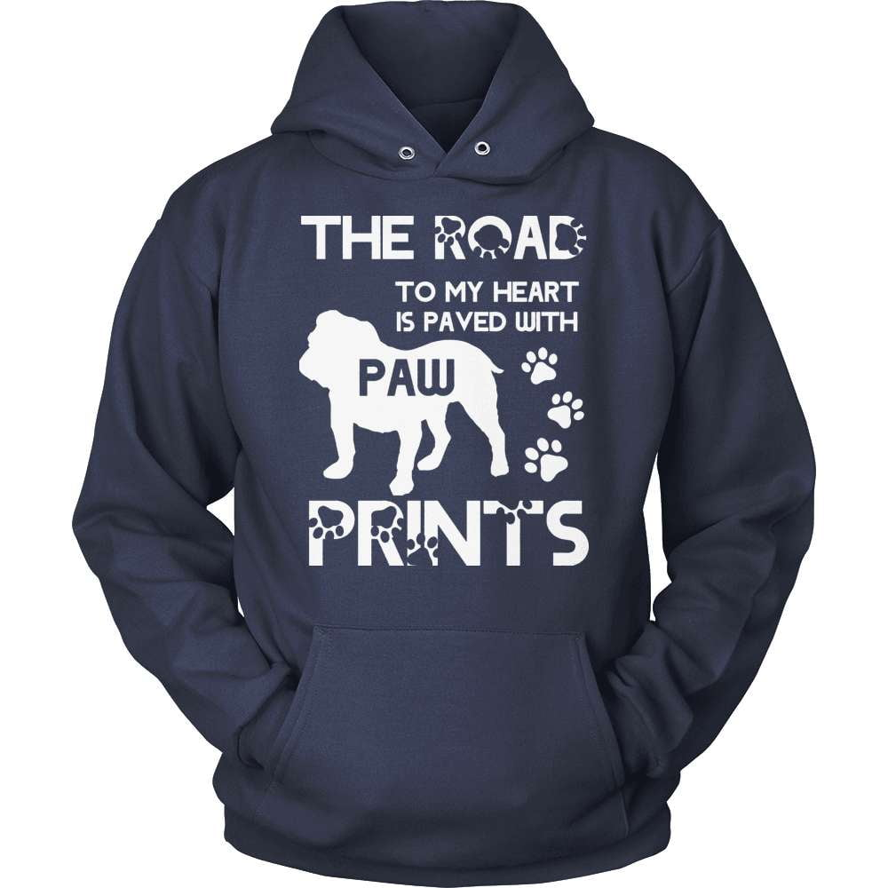 Bulldog Shirt - The Road To My Heart - snazzyshirtz.com