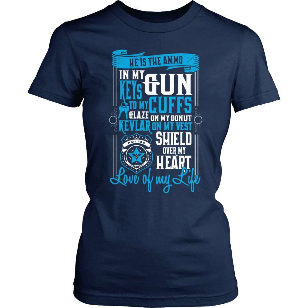 Police T-Shirt Design - He Is The Ammo In My Gun