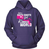 South Dakota T-Shirt Design - South Dakota Girl Florida World