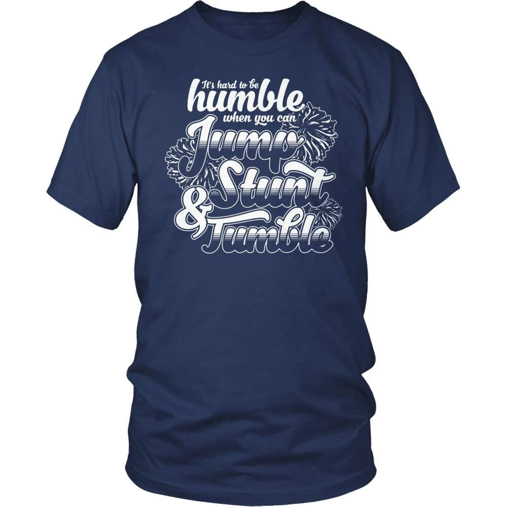 Cheerleader T-Shirt Design - Jump Stunt and Tumble!