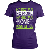 Fitness T-Shirt Design - One More Rep