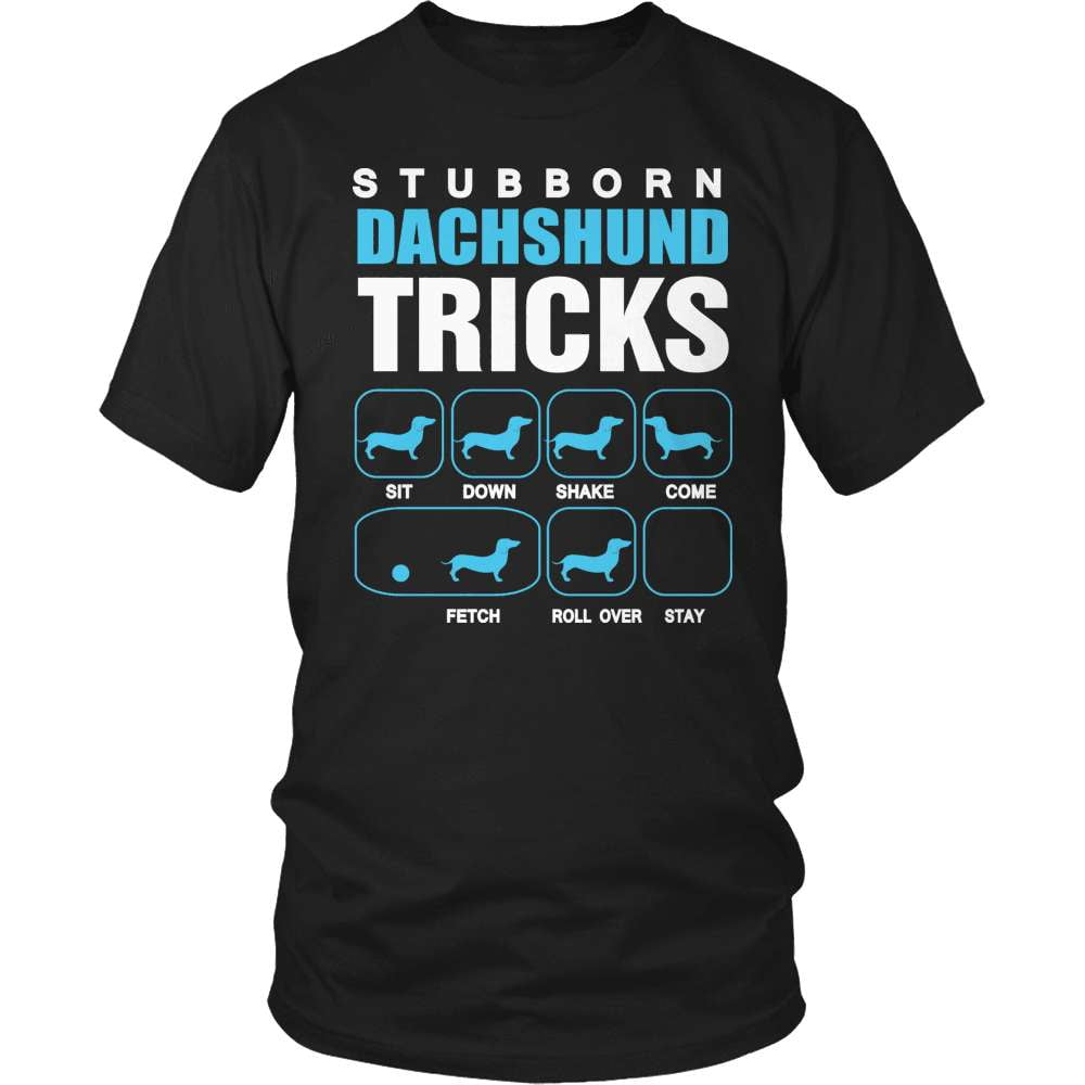 Dachshund T-Shirt Design - Stubborn Tricks
