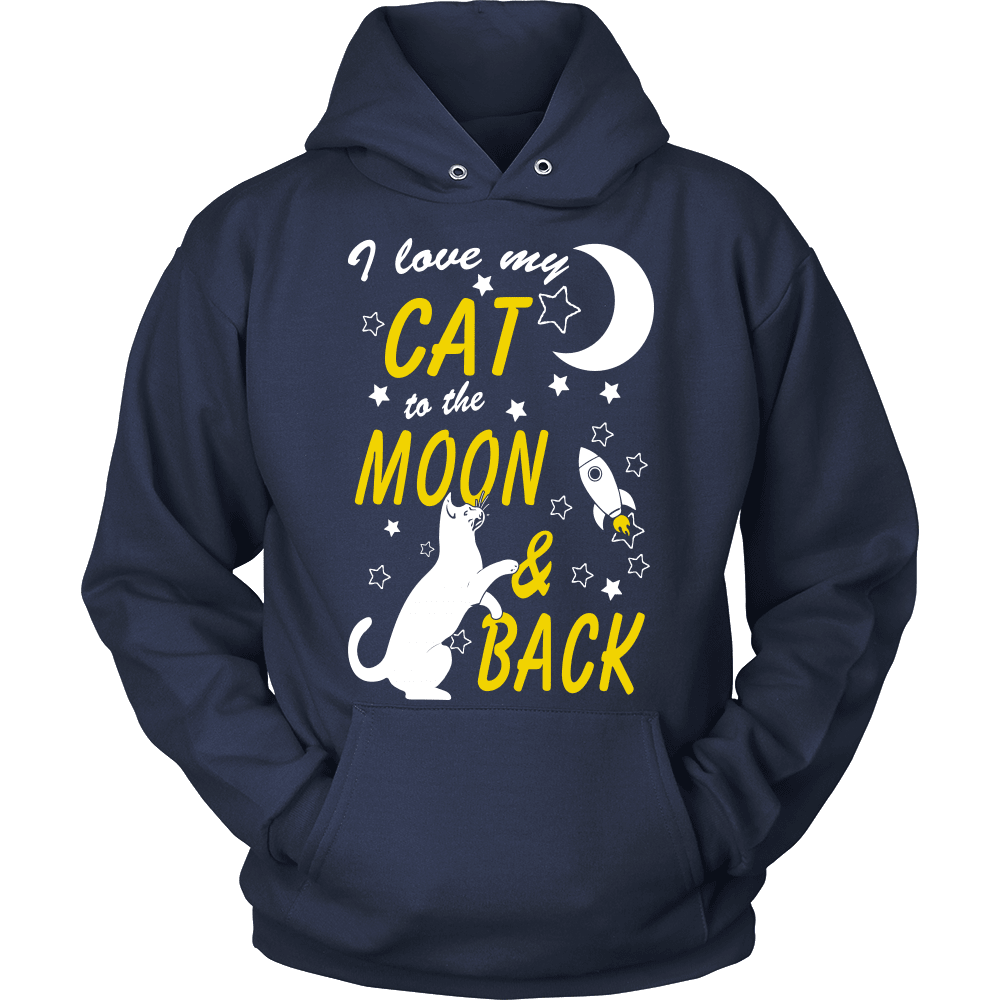 Cat T-Shirt Design - To The Moon And Back