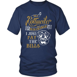 Rottweiler T-Shirt Design - My Rottweiler Is In Charge