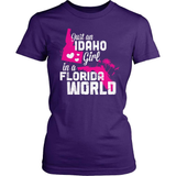 Idaho T-Shirt Design - Idaho Girl Florida World