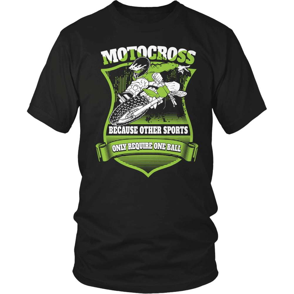 Dirt Bike T-Shirt Design - One Ball - snazzyshirtz.com