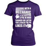 Mechanic T-Shirt Design - Arguing With A Mechanic