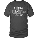 Birthday T-Shirt Design - Vintage - 1980