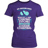 Knitting T-Shirt Design - Louder Counting