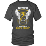 Archery T-Shirt Design - A Woman With A Bow And Arrow!