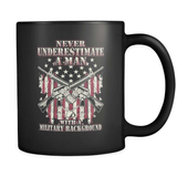 Never Underestimate A Vet - Luxury Veteran Mug
