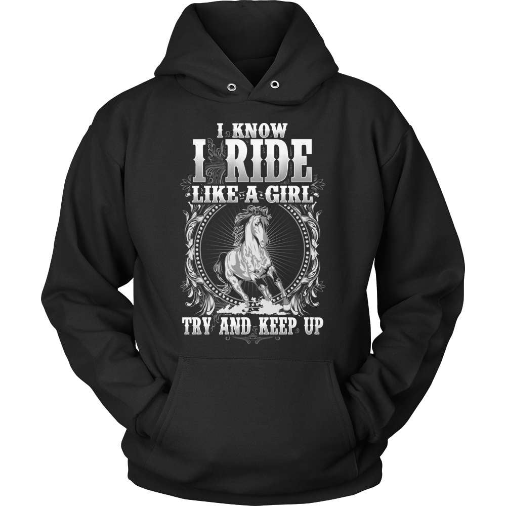 Horse T-Shirt Design - Ride Like A Girl - snazzyshirtz.com