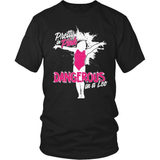 Gymnastics T-Shirt Design - Pretty In Pink Dangerous In Leo!
