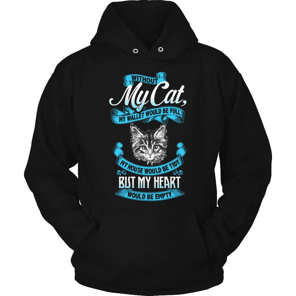 Cat T-Shirt Design - Without My Cat - snazzyshirtz.com