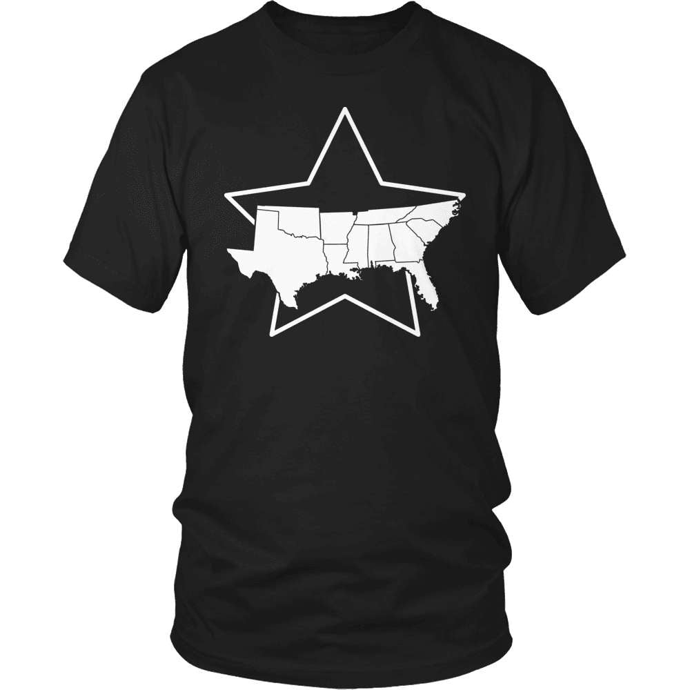 Country T-Shirt Design - South - snazzyshirtz.com