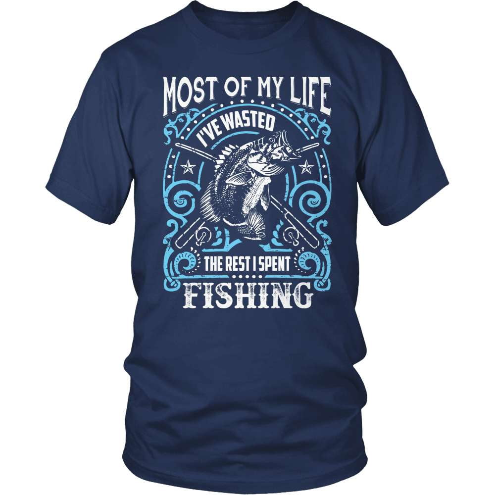Fishing T-Shirt Design - Wasted My Life