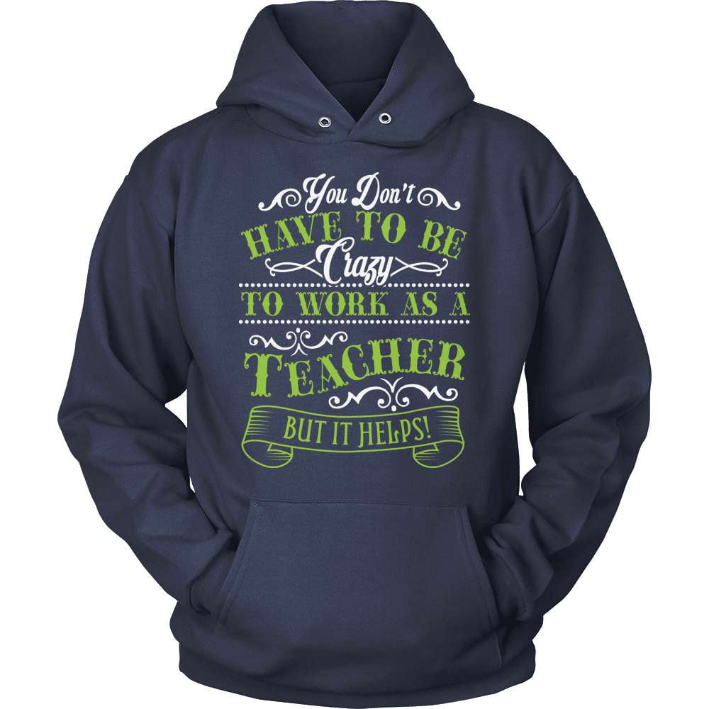 Teacher T-Shirt Design - Crazy Teacher It Helps