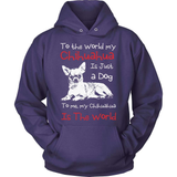 Chihuahua T-Shirt Design - My Chihuahua Is The World!