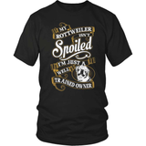 Rottweiler T-Shirt Design - My Rotty Isn't Spoiled!