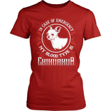 Chihuahua T-Shirt Design - My Blood Type Is Chihuahua!