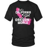California T-Shirt Design - California Girl Oregon World