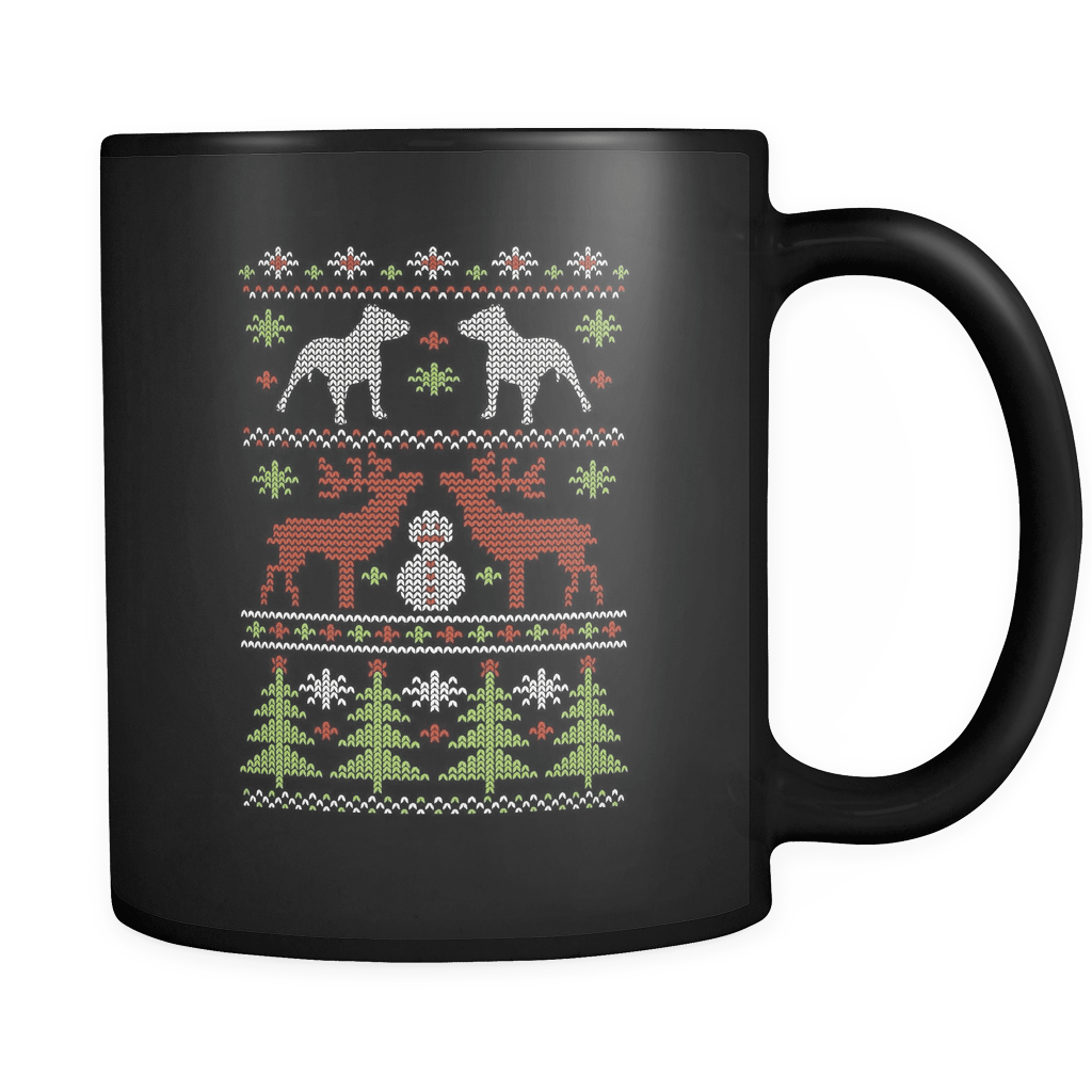 Christmas Pitbull Luxury Mug