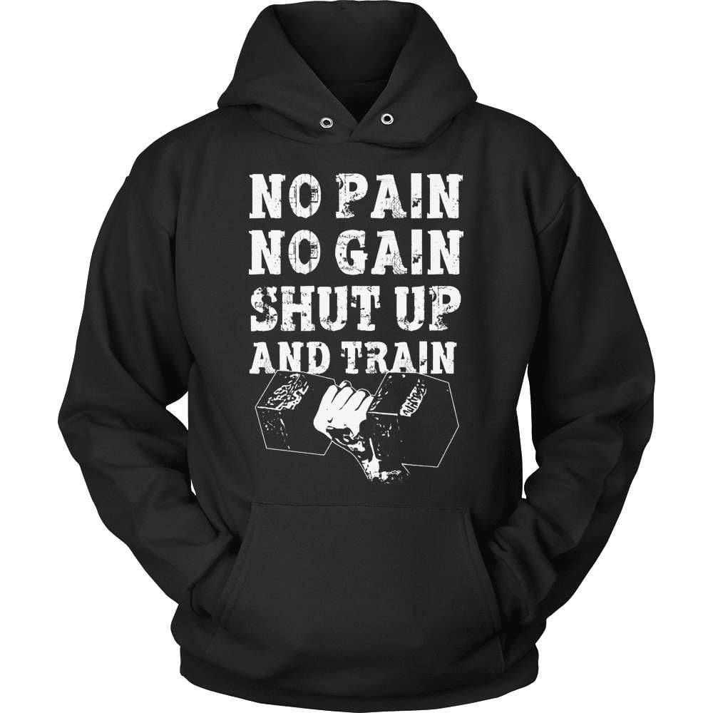 Fitness T-Shirt Design - No Pain No Gain Shut Up And Strain