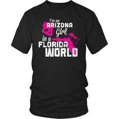 Arizona T-Shirt Design - Arizona Girl Florida World - snazzyshirtz.com